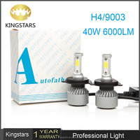 Lower price high quality C6 H4 9003 HB2 car led headlight 6000k 6000lm 40w bulb lamp 9003