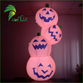 Halloween Pumpkin Light Decorations / Air LED Lighting Up Pumpkin Balloons / Giant Halloween Decoration Inflatable Pumpkin