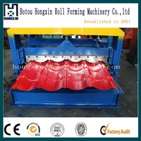 828 Roof Steel Tile Roll Forming Machine with Galvanized Board for Transportation