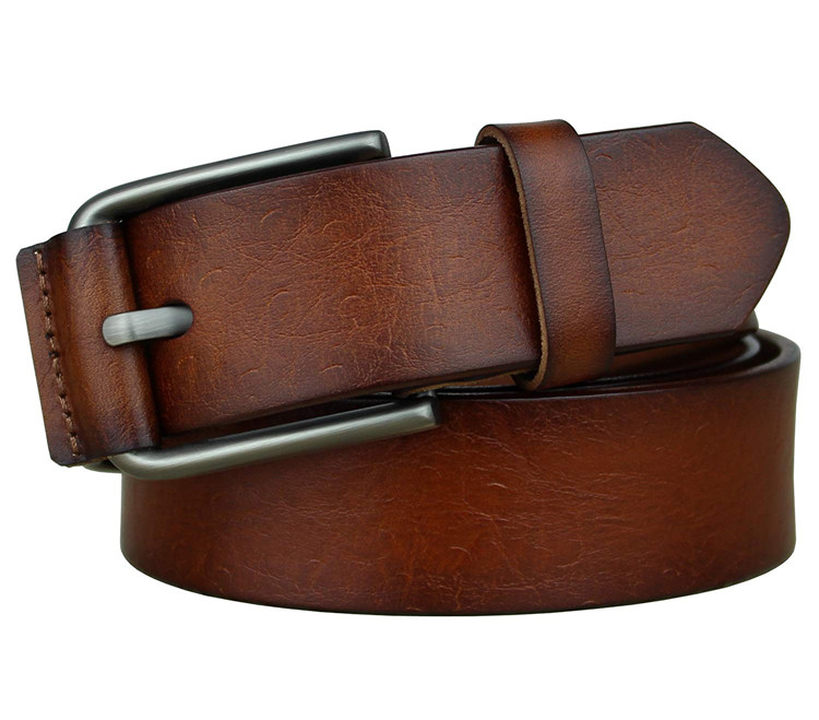 Custom Men Classic Casual Brown Black Blue Genuine Leather <strong>Belts</strong> for Jeans