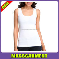 95% cotton 5% spandex ladies plain white slim fit tank top fancy tank top for women