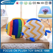 famous TV drama plush diy animal shaped kiss plush fish pillow