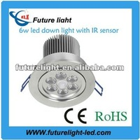 manufacturer New! 6w rgb led down ligh with IR for home lighting