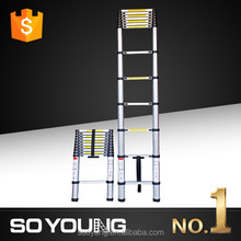 NEW 3.8m Extended Telescopic Ladder Aluminium Lightweight Sturdy Load 150kg 13 Steps