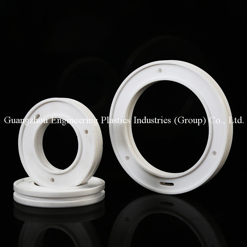 engieering plastic precision machining white PTFE hard plastic parts teflon wheels