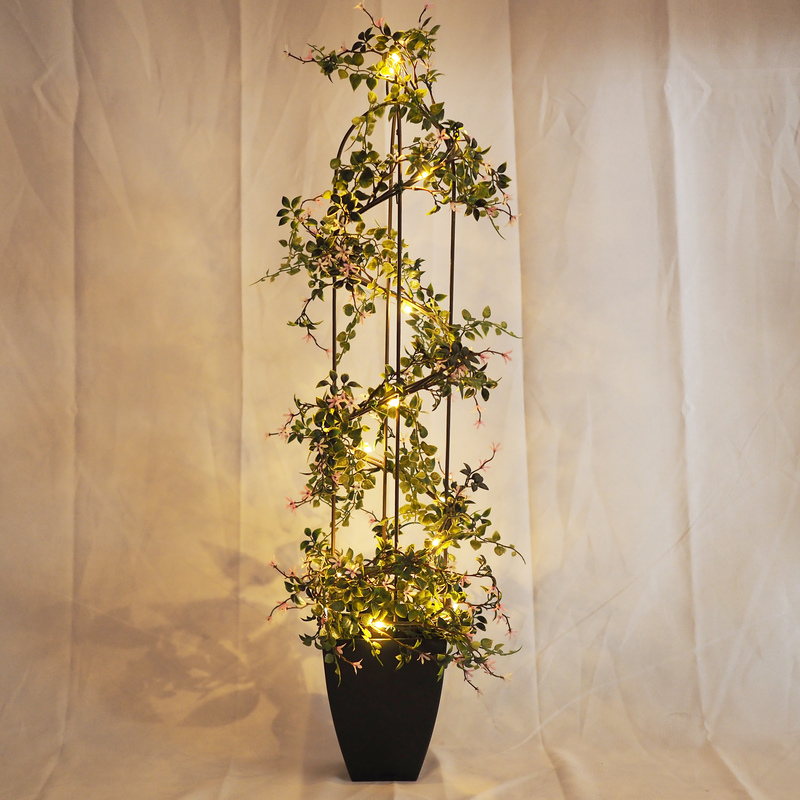 Hot Sales Christmas indoor or Outdoor artificial tree decoration LED bonsai tree 30 leds plastic artificial plants trees HL-010