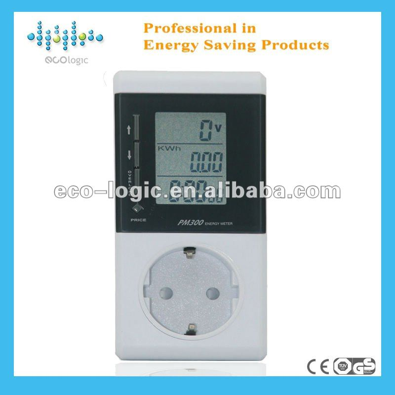 2012 Electricity consumption meter display voltage,current and wattage for total energy cost calculation