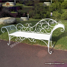 Wrought iron chaise couch wedding chairs outdoor leisure bench