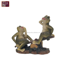 Resin Two Frog Play Game Statue Outdoor Pure Garden Decoration Home Decor