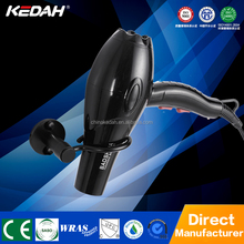 Space aluminum black color hot and cold high temperature wall mounted hotel hair dryer KL6213