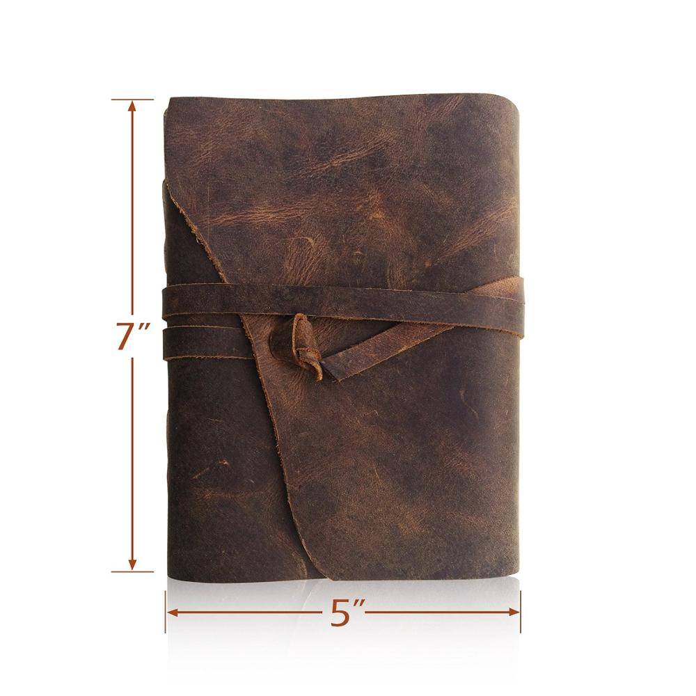Antique Handmade Leather Journal Writing Notebook Leather Bound Daily Notepad Notebook For Men & Women