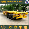 40ft container chassis flatbed semi trailer ,flatbed container semi trailer
