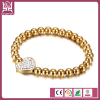 wholesale cheap custom fashion stainless steel bead bracelet