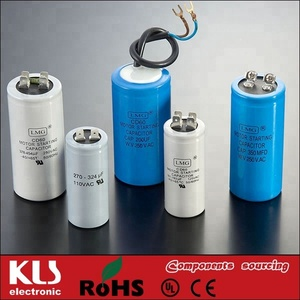 KLS Brand Good quality VDE CE ROHS 59 ac ceiling fan capacitor
