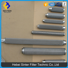 SS sintered metal duplex material filters pleated wire mesh filter cylinder for water treatment