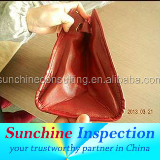 Handbag Inspection Service in Jinan / Yantai / Laizhou / Weiha / QC Inspection in Shandong