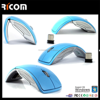 2.4ghz usb wireless mouse folding arc mouse,foldable mouse,customized logo--MW8013--Shenzhen Ricom