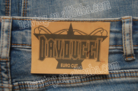 jeans leather patch beanies label+Euro Cut:Leatherette Paper+Silk Screen Print