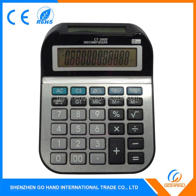 Cheap Office Gift Large Solar Size Desktop Digital Calculator