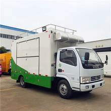 Stainless Steel Decorated Dongfeng 4x2 Mobile Food Vending Truck Kitchen Truck