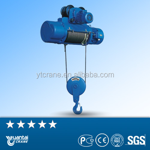Max lifting height electric hoist wire rope hoist