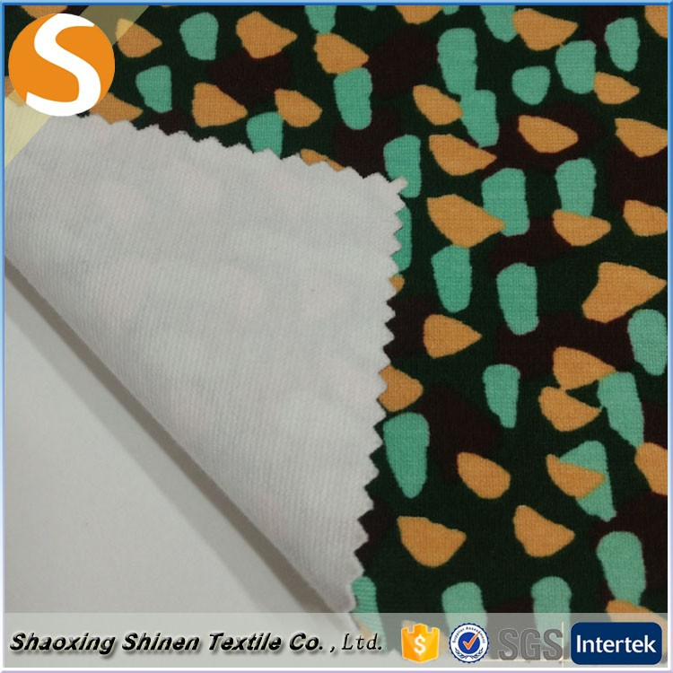 New style spandex quality 100% cotton print knit fabric textile