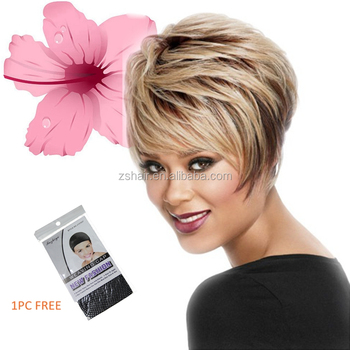 Best Seller Long Layered Straight Ombre Blonde Color Pixie Cut Wig Buy Pixie Cut Wig Blonde Pixie Cut Wig Long Layered Pixie Cut Wig Product On Alibaba Com