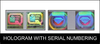 Serial Numbered & Or Bar Coded Holograms