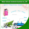 new product silicone mobile phone card holder promotion gifts cell phone credit card holder silicone phone case