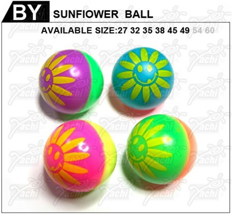 Newest selling special design kids printed bouncing sports balls with different size
