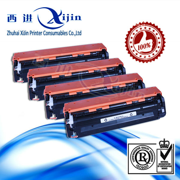 Colored ! CB 540 -543A toner cartridge for HP