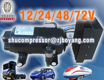 electrical air condition for cars with brushless 24 volt dc air conditioner compressor