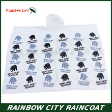 biodegradable printed rain ponchos