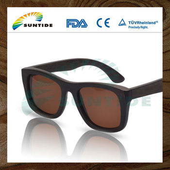 Handmade Custom Design Brown Bamboo polarized Sun glasses Sunglasses (ZA06)