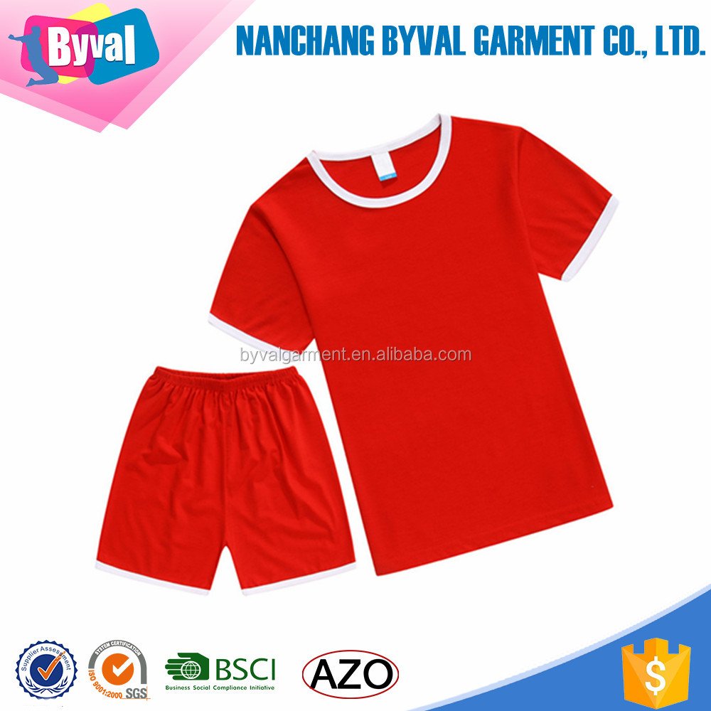 Unisex Kids 100% Cotton T Shirt Custom Baby Clothes T-shirt and Pants Kits Kids clothing Wholesale Manufacturer In China