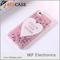 Fashion design bling bling liquid quicksand twinkle star TPU+PC mobile phone cover for iphone 5