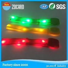 ISO certificated led flashlight wristband for concert and events