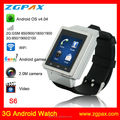 2014 newest watch phone android wifi 3g android watch phone with GPS bluetooth camera