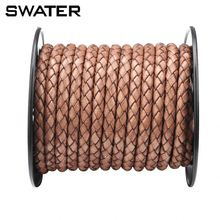 Trend 2018 Jewelry Supply 3mm To 8mm Genuine/real Braided Brown Leather Necklace Cord