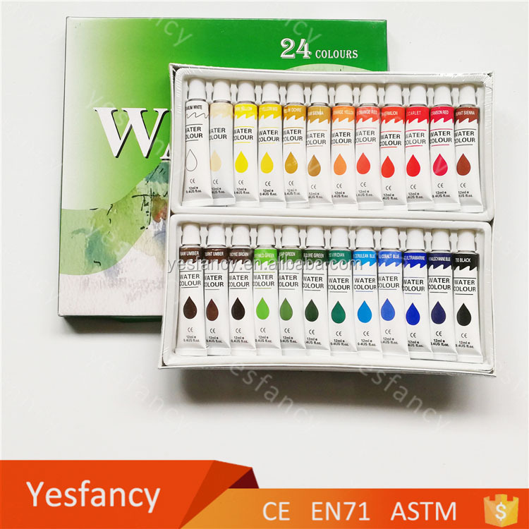 OEM and ODM watercolor sets orchid paint water colour