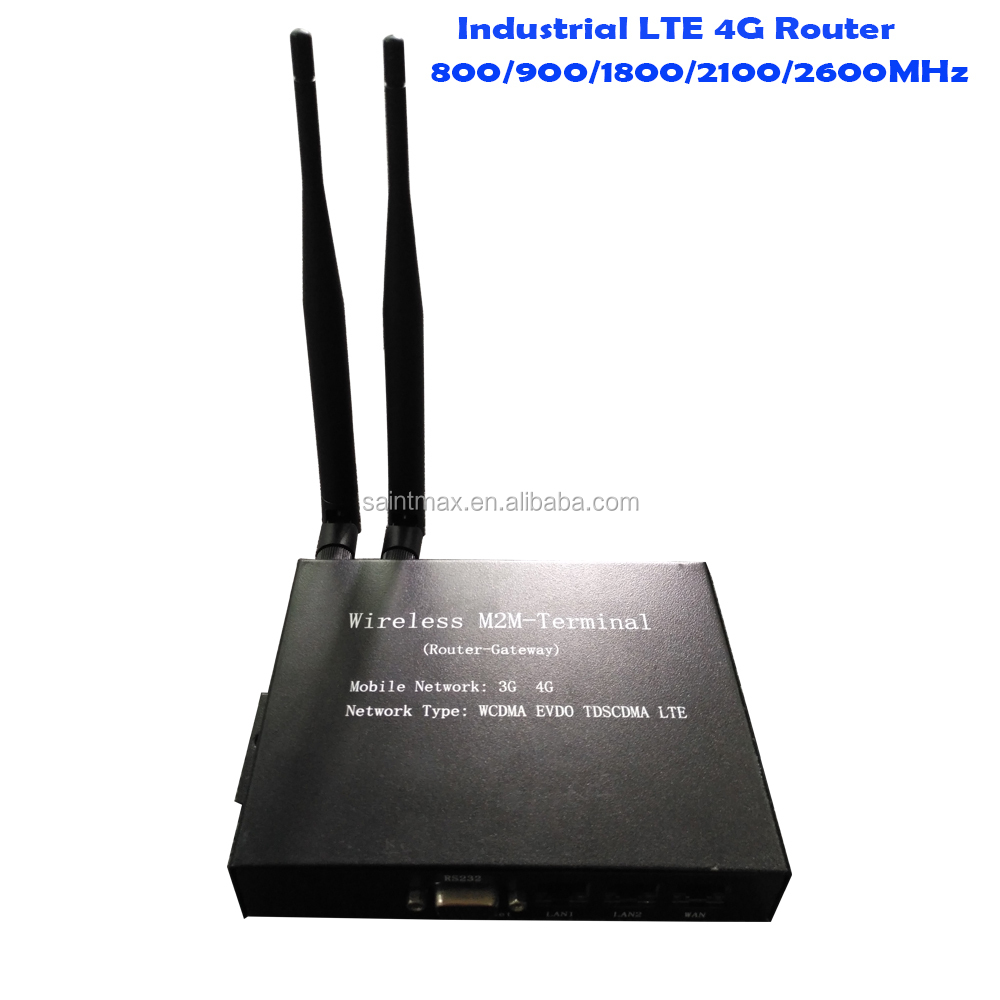 Industrial 800 / 900 / 1800 / 2100 / 2600MHz 4G wifi Router with SIM Card Slot