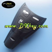 Key blanks for SAAB key shell four button remote key fob with soft button