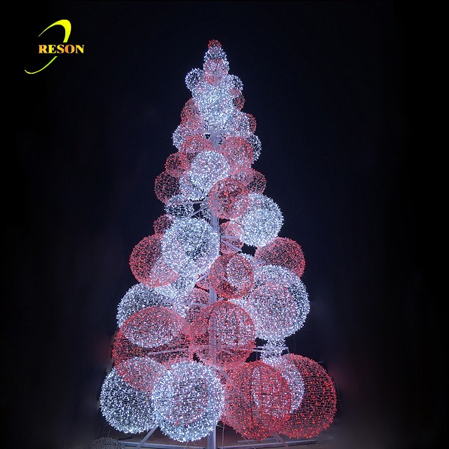 Outdoor Light Up Led Ball Trees For Celebration Decoration