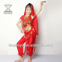 Lovely Festive Popular Indian Children Belly Dancing Wear,Kids Belly Dancing Performance Clothes (ET008)