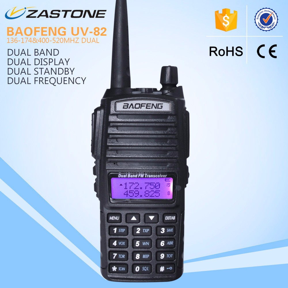 walkie talkie BAOFENG UV-82 UHF/VHF dual band handheld walkie talkie with high power baofeng radio