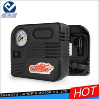 High performance Portable DC 12v tyre inflator pump with pressure gauge