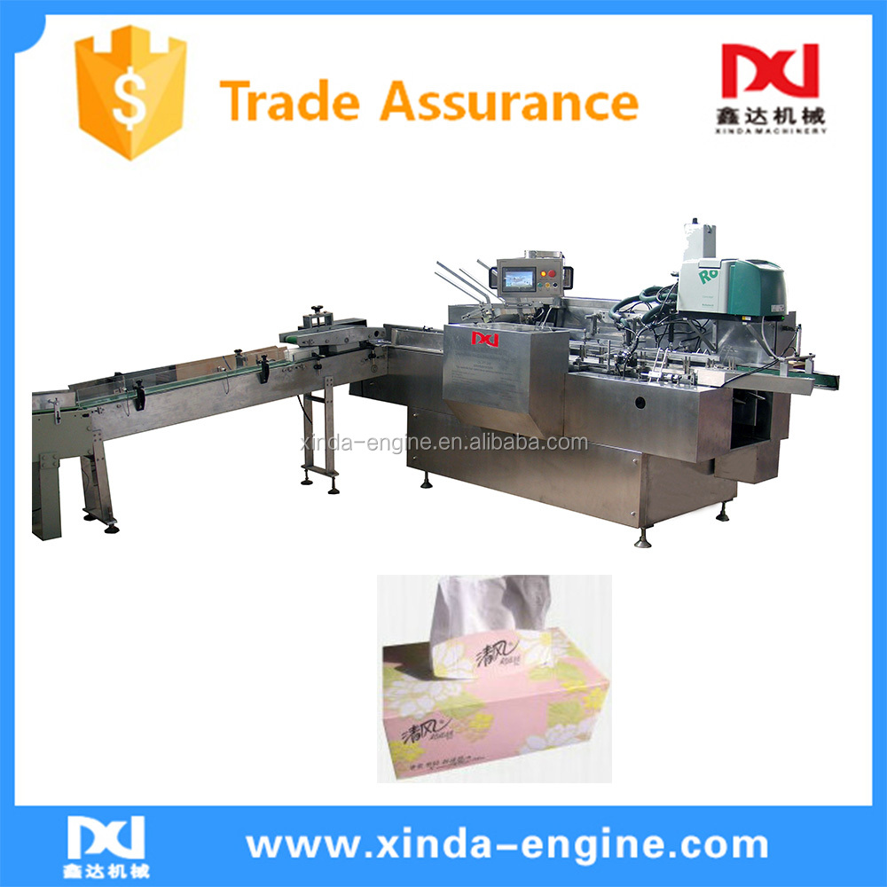 Automatic cheap paper tray for facial tissue box packing machine manufactuer CIL-FT-258