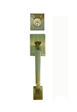 power systems zinc alloy panel door fancy latest handleset door lock KY2001-AB