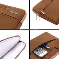 For Laptop Case, Neoprene Hard Carrying Case Sleeve for Macbook Air 11 Inch, Coffee