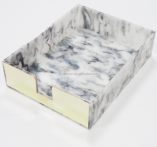 Marble acrylic letter tray paper envelope organizers new design promotion
